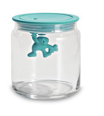 Gianni Glass Jar with Blue Lid