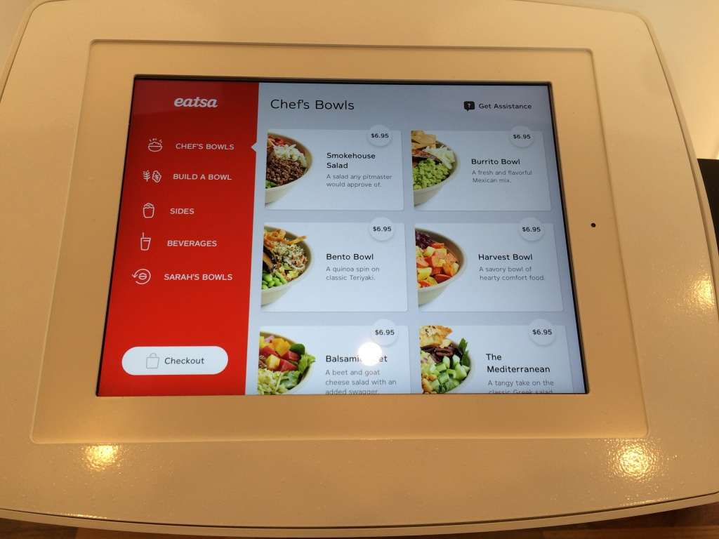 This is how you order your food at Eatsa, a new restaurant in San Fransisco that is totally automated