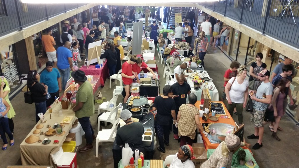 Locals rose around the food stalls at the Durban Street Food Festival on its final day.
