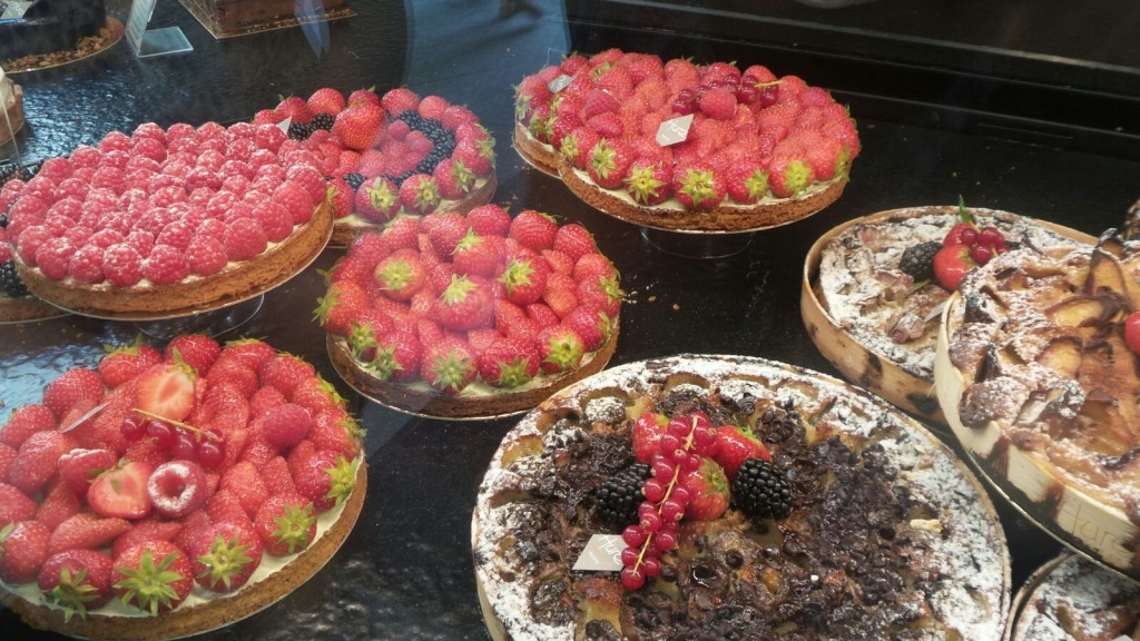 Cakes to die for at a patisserie in Paris - more works of art than food.