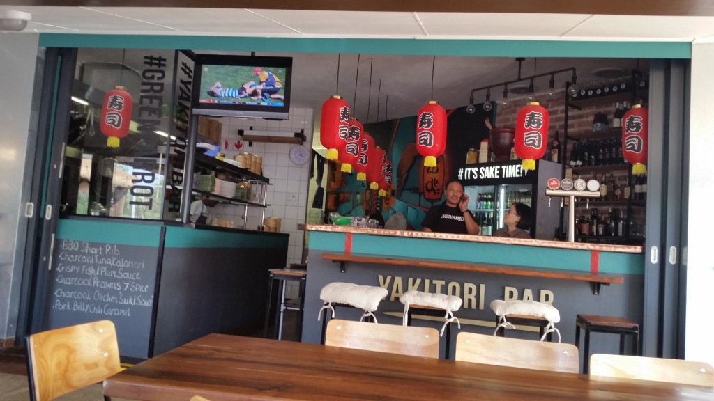 Green Parrot Japanese restaurant and yakitori bar in Durban North