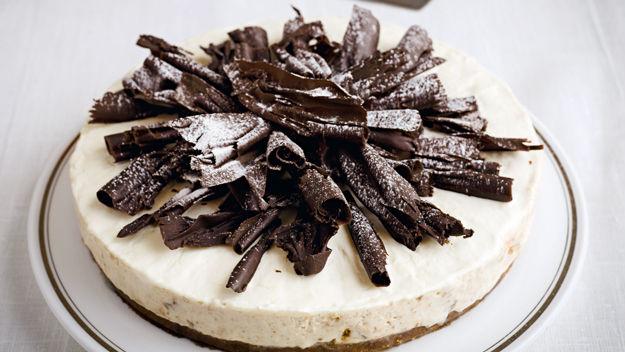 Pear and Amaretto cheesecake. Delicious!