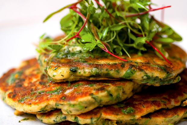 Ottolenghi's lime butter green pancakes