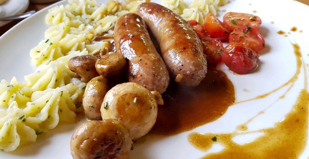 A heart-warming bangers and mash