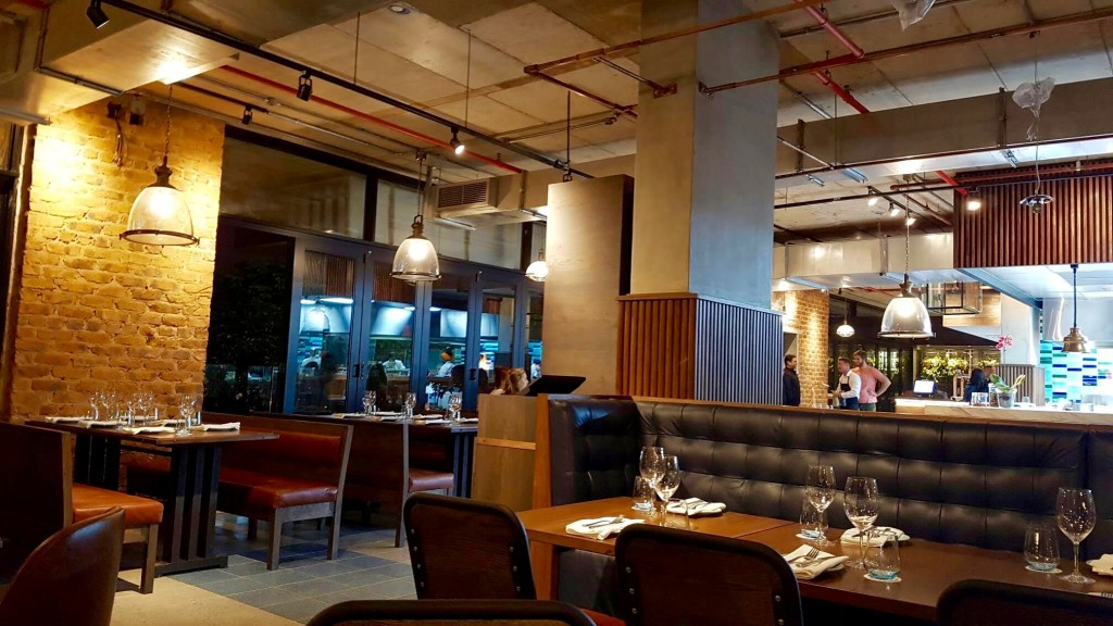Designer-designed interior of The Chefs' Table