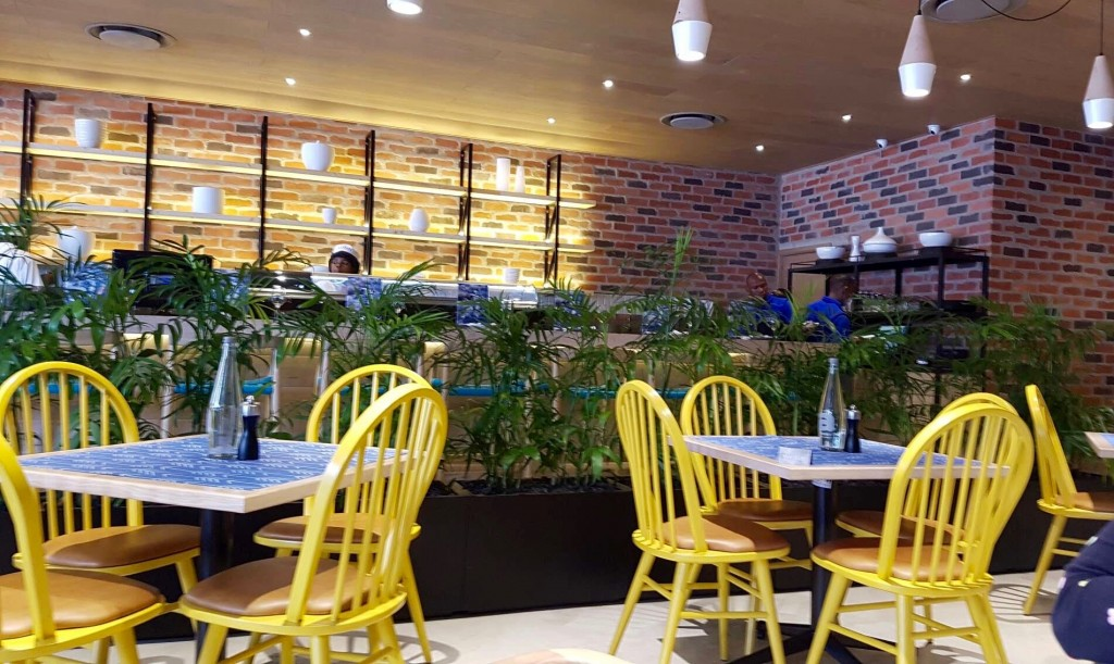 Interior of Catch, a new seafood restaurant in Umhlanga