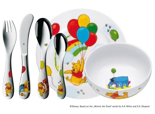Winnie the Pooh set of cutlery and bowls